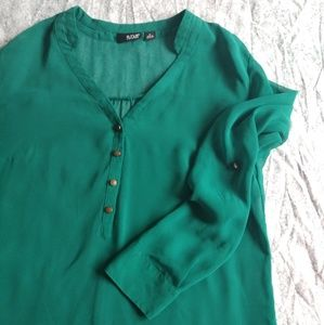 A.N.A turquoise sheer blouse size M
